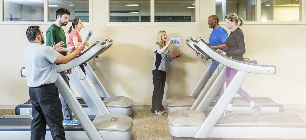 cardiac rehab on the treadmill
