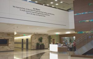 An interior shot at Highlands Ranch Hospital