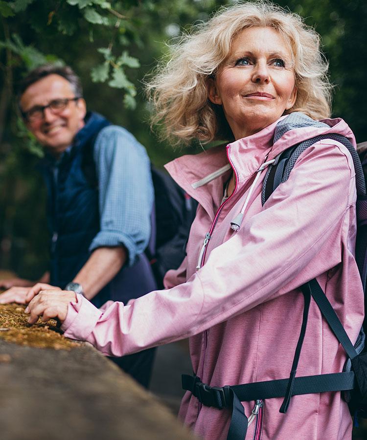 Senior couple Hiking together