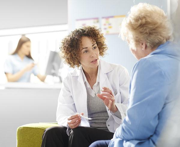 provider explaining a treatment