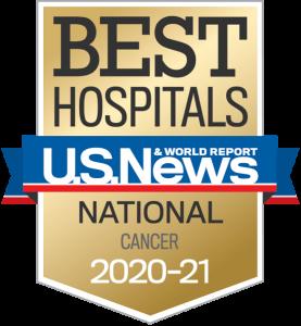 US News Best Hospital Badge National Cancer 2020-2021