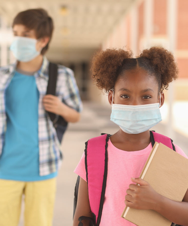 Young children at school wearing masks - COVID-19 delta variant - UCHealth