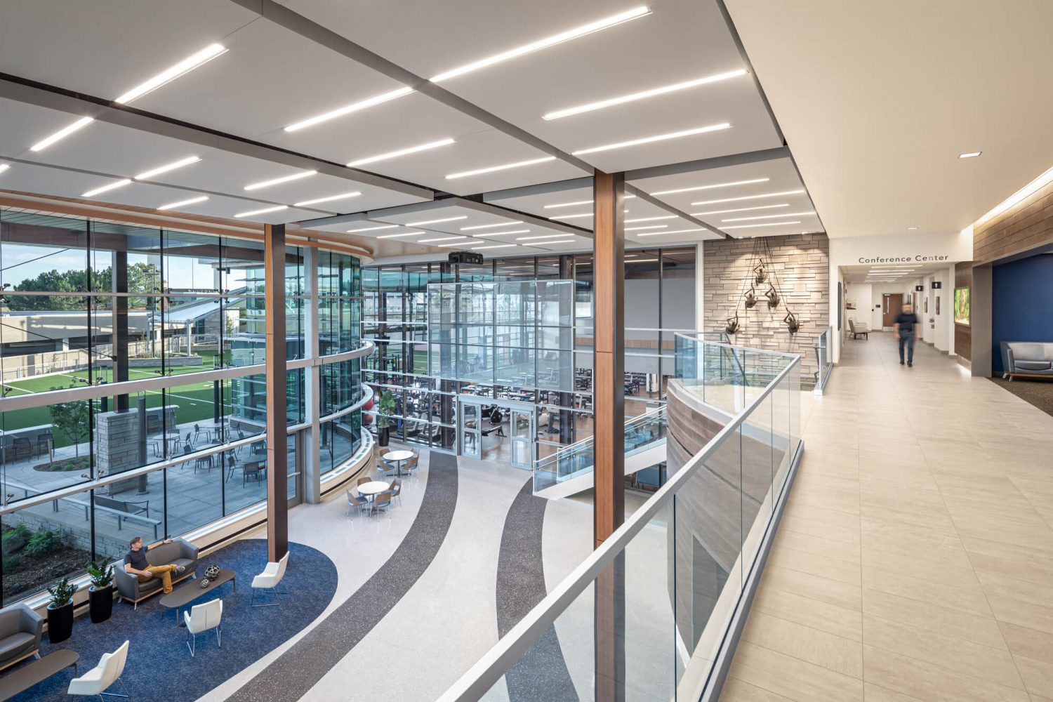 UCHealth Inverness Location Lobby from 2nd floor