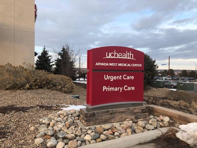 UCHealth Arvada West Medical Center sign