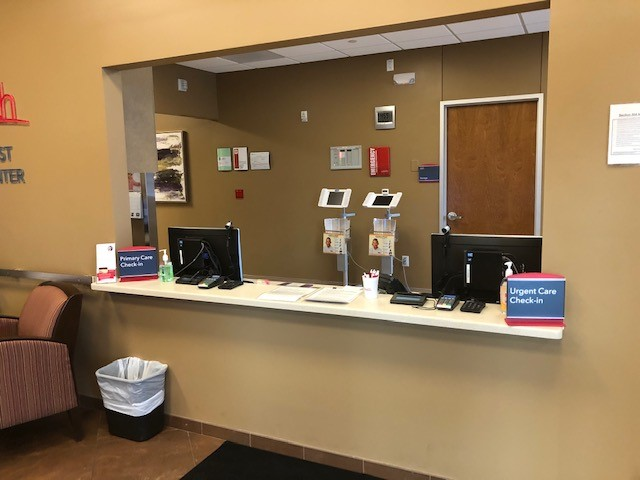 Reception area at Arvada West clinic