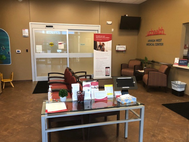 Waiting area at Arvada West clinic