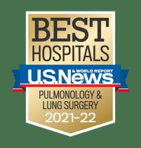 2021-22 U.S. News & World Report Pulmonology & Lung Surgery Badge