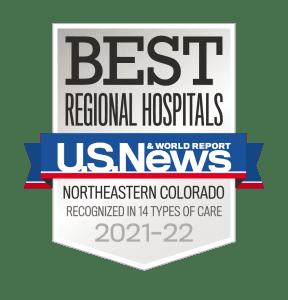 U.S. News Best Regional Hospital MCR 2021-22 badge