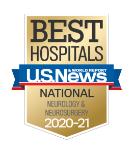 US News Best Hospitals 2020-21 Neurology & Neurosurgery badge