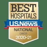 US News Best Hospitals 2020-21 Cancer badge
