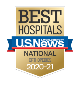 US News Best Hospitals 2020-21 Orthopedics badge