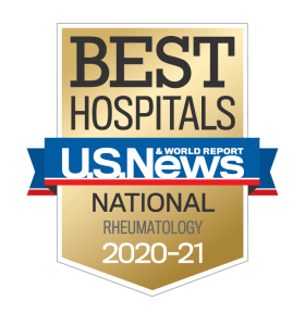 US News Best Hospitals 2020-21 Rheumatology badge