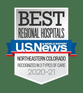 US News Best Regional Hospital PVH 2020-21 badge