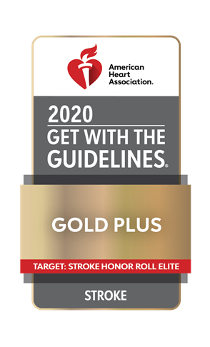 AHA GWTG 2020 Gold Plus Stroke badge