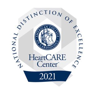 HeartCare Center Distinction of Excellence badge