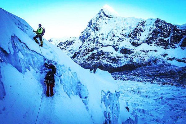 Kim Hess climbing Mount Everest - UCHealth