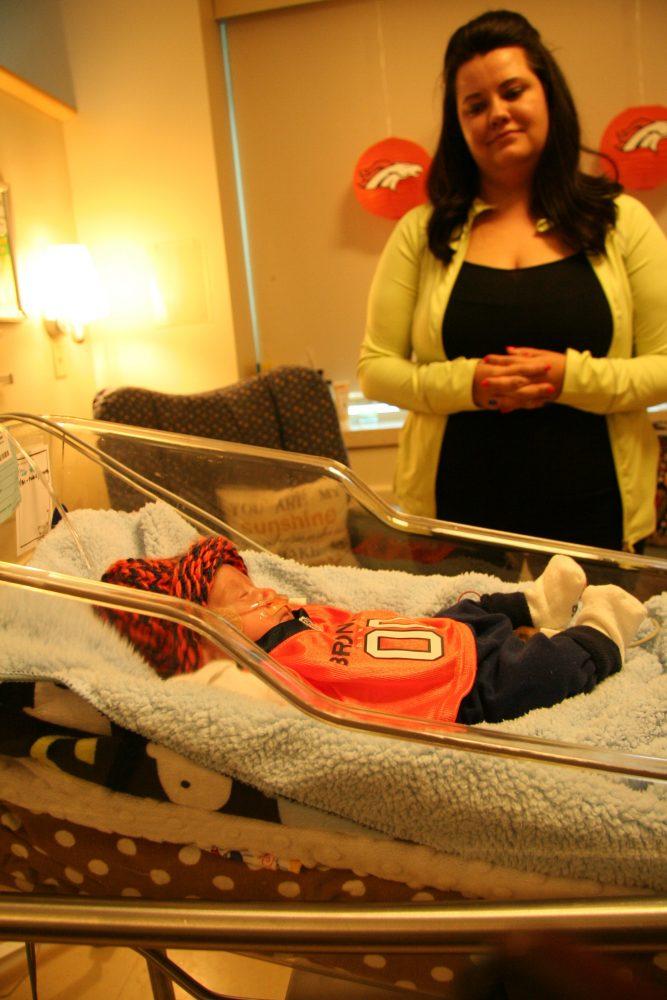 Savannah Steinke with her baby, Chase Steinke