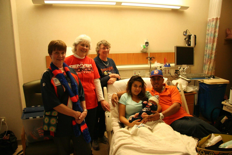 Julian with his parents, Brittany Chavez and Jorge Sanchez