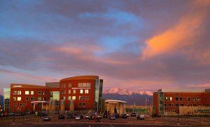 memorial hospital north at sunrise