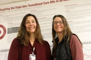 Two nurses pose for a photo. They are Andrea Hooley and Jennifer Nolte.