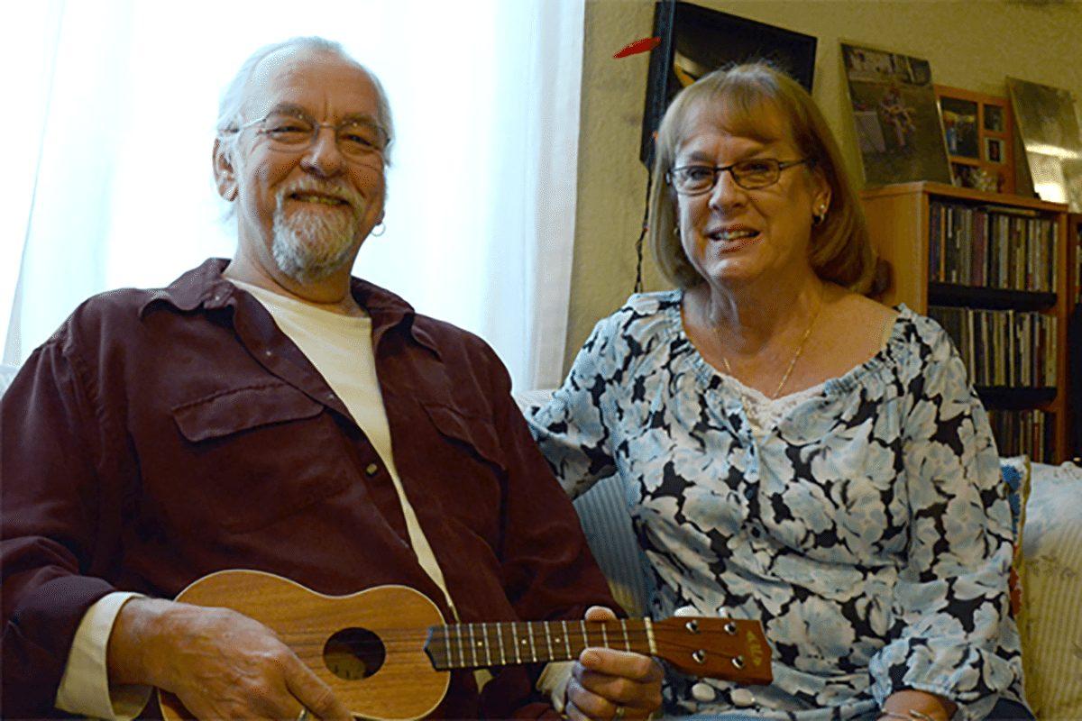 Martin and Kathy Gordon pose for a phote at their Colorado Springs home.
