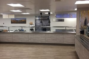 Memorial's newly remodeled kitchen has modern amenities and new, healthy food options.