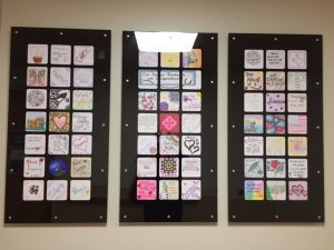 The Patient and Family Advisory Council collaborated with Spiritual Care to add art to a long hallway at Memorial Hospital Central.