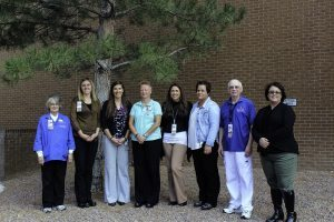 Members of the Patient and Family Advisory Council are pictured (from left to right): Sharon Douglas, Britta Emenecker, Nicki Skinner, Yvonne Muise, Christy Knouf, Stephanie Upton, Neil Klockziem, Kathy Flahive. Not Pictured: Bob Hinterberger.