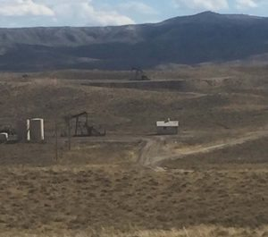 The Kirby Draw near Riverton, Wyoming, site of the natural gas explosion that badly burned Shannon Kelley. The low spot forced the injured Kelley to drive her truck to a higher spot to get cell service. Photo courtesy Shannon Kelley.