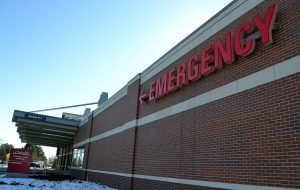 side of the new emergency department says emergency