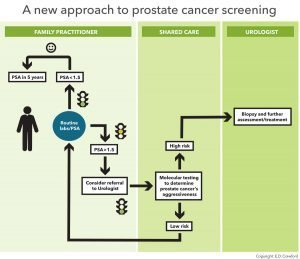 diagram of a more straightforward prostate cancer screening standard