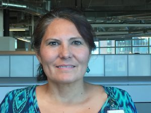 This is a photo of Gwen Martinez, a nurse and clinical informatics specialist who works to ensure that Epic, UCHealth's electronic medical record system, is robust with accurate information, has served on the Inclusion Committee at Memorial Hospital for several months.