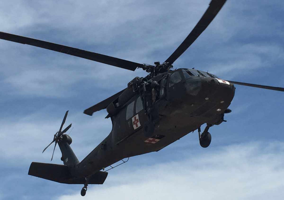 AUH-60 Black Hawk helicopter is pictured.