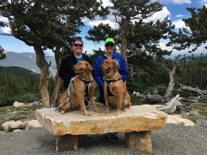 Tarryn Ford, left, with her mother, Leslie, and dogs London and Ainsley. Tarryn is in a clinical trial at UCHealth University of Colorado Hospital of a drug designed to treat hypertrophic cardiomyopathy in individuals with a genetic mutation linked to the disease.