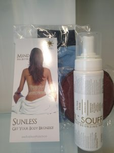 photo of sunless tanning products.