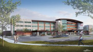 An artist's rendition of UCHealth Greeley Hospital.