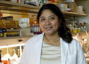 Maria Nagel, MD, in her University of Colorado School of Medicine laboratory