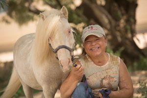 Sara Millard with her horse, Tazz.