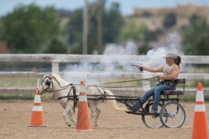 Sara and her blind horse, Tazz in Pueblo West