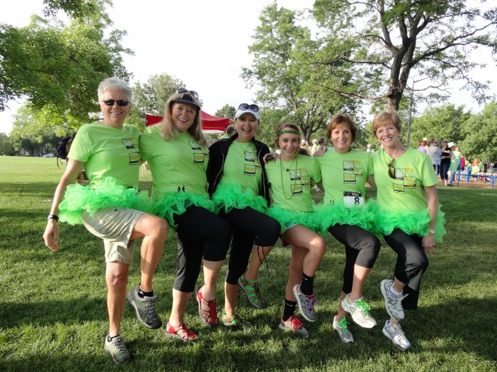 Jeanne Lambert and friends are pictured in this photo during the 2012 Run for Hope 5K event.