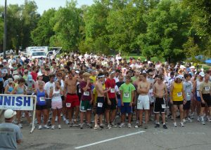 Runners gather at the starting line of the Race for Hope 5K in this photo. The Race for Hope brings awareness and hope to carcinoid cancer and patients.