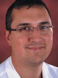 This is a photo of Dr. Jorge Davalos, a cardiologist at UCHealth Memorial Hospital.