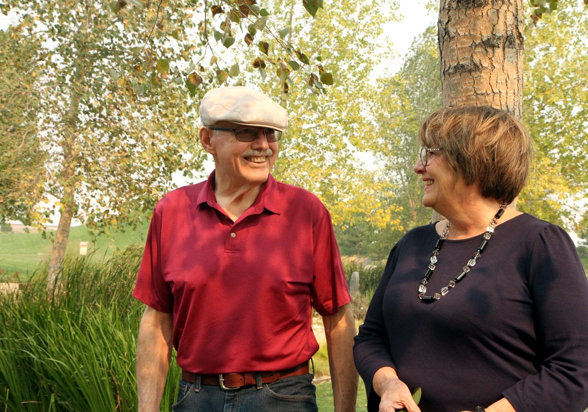 Dave and Judy Kersten walk together. The two joined together in preventing diabetes as well by joining a UCHealth Diabetes Prevention Program.