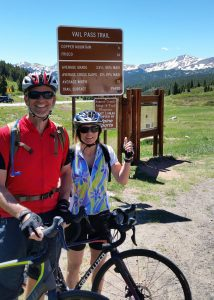 Don and Kris Soltis cycled up to the summit of Vail Pass months after his stroke.