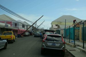 Power lines sagged after Hurricanes Irma and Maria hit St. Croix hard.