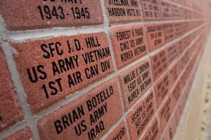 J.D. Hill's service is commemorated on an honor wall