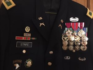Jim Strife's medals for his service.