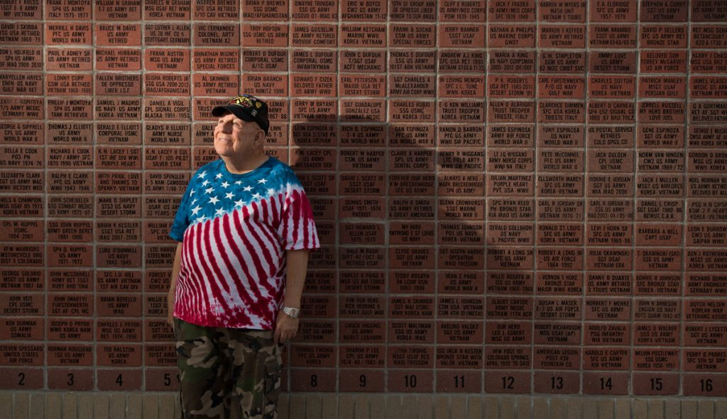 J.D. Hill's name is among those on a Wall of Honor memorial in Fountain, Colora
