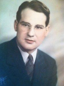 Vernon Bingham as a high school senior, 1937.