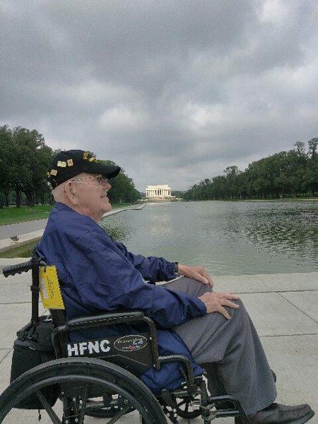WWII Pfc. Jim Ingram, visits Washington, D.C. during an Honor Flight Northern Colorado trip on Sept. 17-18, 2017.